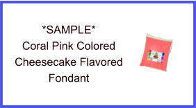 Coral Pink Cheesecake Fondant Sample