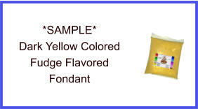 Dark Yellow Fudge Flavor Fondant Sample