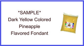 Dark Yellow Pineapple Fondant Sample
