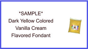 Dark Yellow Vanilla Cream Fondant Sample