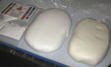 Whitened Marshmallow Fondant