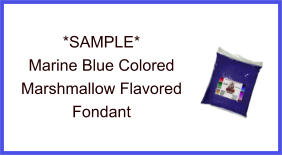 Marine Blue Marshmallow Fondant Sample