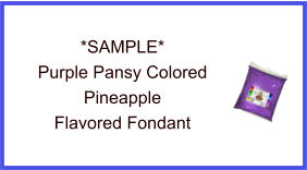 Purple Pansy Pineapple Fondant Sample