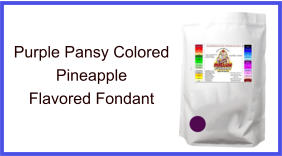 Purple Pansy Pineapple Fondant
